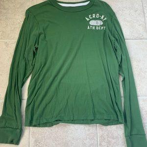 Large Green Aeropostale Longsleeve Shirt Like New